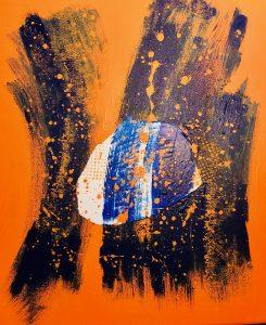 uschi polly - atelier up - malwerkstatt moedling-marketing moedling- kunstkurs modling- kunst workshop moedling- Uschi Polly- color up your life- abstrakt orange