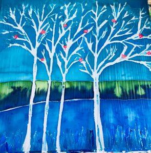 uschi polly - atelier up - malwerkstatt moedling-marketing moedling- kunstkurs modling- kunst workshop moedling- Uschi Polly- color up your life- baume seidenbild