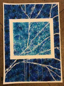uschi polly - atelier up - malwerkstatt moedling-marketing moedling- kunstkurs modling- kunst workshop moedling- Uschi Polly- color up your life- blauer marmor bild