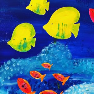 uschi polly - atelier up - malwerkstatt moedling-marketing moedling- kunstkurs modling- kunst workshop moedling- Uschi Polly- color up your life- fische 2