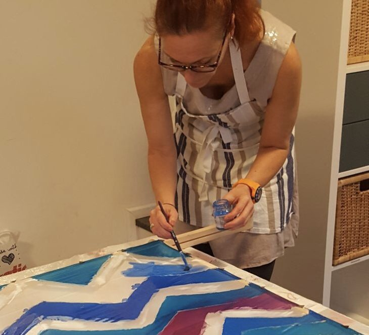 uschi polly - atelier up - malwerkstatt moedling-marketing moedling- kunstkurs modling- kunst workshop moedling- Uschi Polly- color up your life- uschi beim malen