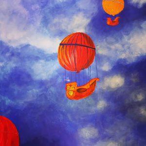 uschi polly - atelier up - malwerkstatt moedling-marketing moedling- kunstkurs modling- kunst workshop moedling- Uschi Polly- color up your life-wolkenschiffe bild