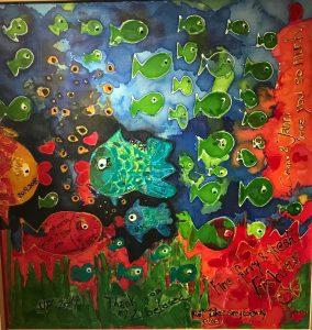 uschi polly - atelier up - malwerkstatt moedling-marketing moedling- kunstkurs modling- kunst workshop moedling- Uschi Polly- color up your life-fine funny fresh fish