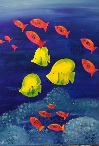 uschi polly - atelier up - malwerkstatt moedling-marketing moedling- kunstkurs modling- kunst workshop moedling- Uschi Polly- color up your life- fische groß