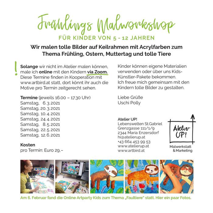 Atelier Up Malkurse Moedling Fruehling 2021 Uschi Polly