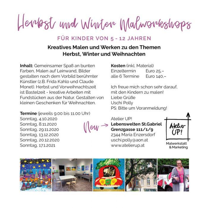 Atelier UP! Malworkshops in Mödling Herbstkurse 2020